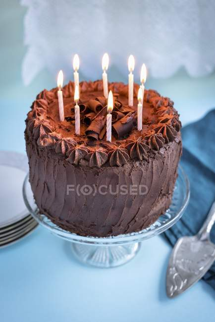 Fabulous Chocolate Birthday Cake Recipe Gastronomy Stock Photo Funny Birthday Cards Online Alyptdamsfinfo