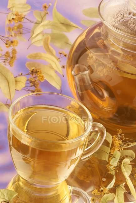 Verre à thé de chaux — Photo de stock