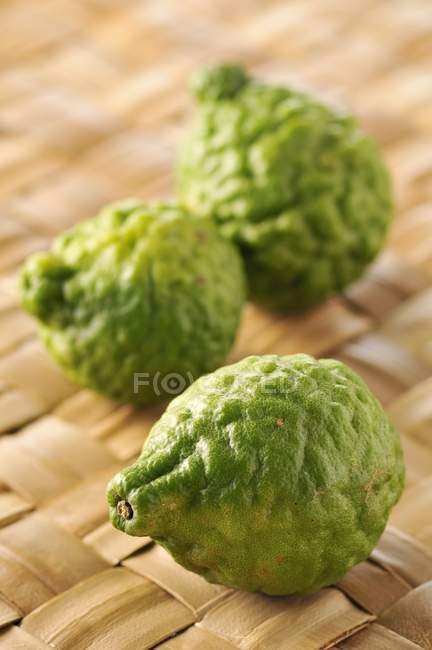 Fresh combava fruits — Stockfoto