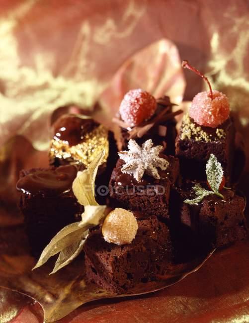 Ausgefallene Schokoladenkuchen — Stockfoto