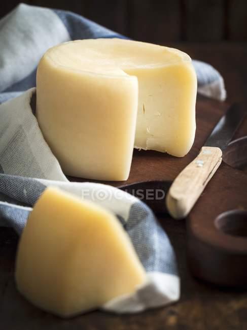 Round goat cheese — Stock Photo