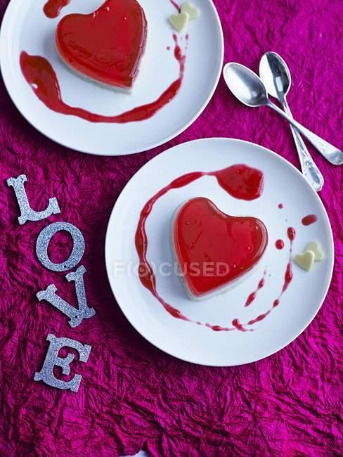 Желе любит сердца — стоковое фото