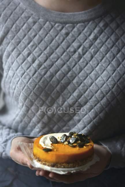 Gâteau végétalien citrouille — Photo de stock