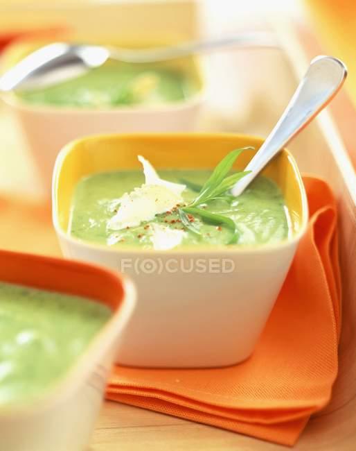 Sahne-Zucchini-Suppe — Stockfoto