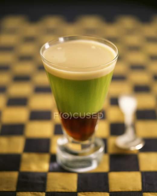 Irische Kaffee im Glas — Stockfoto