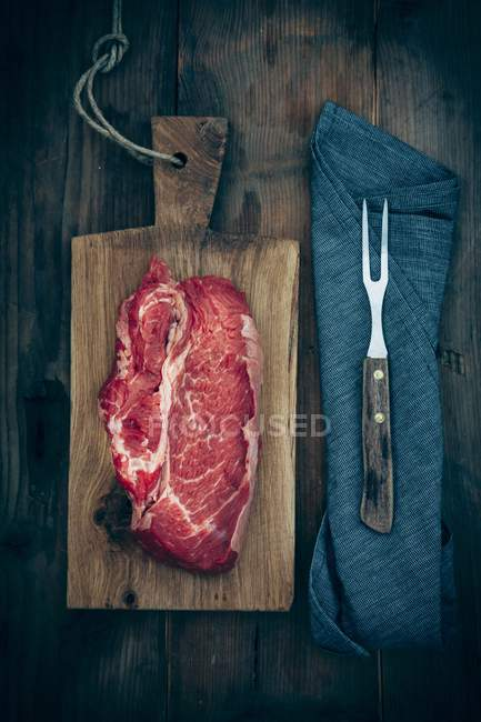 Fresh raw Beef rib — Stock Photo