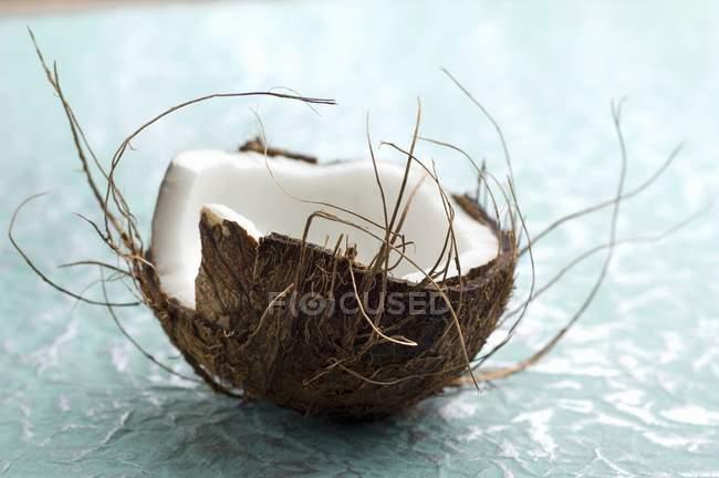 Свежий половину кокосового — стоковое фото
