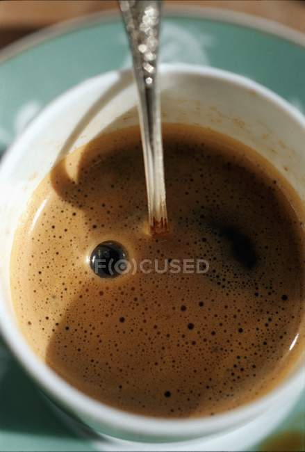 Black Coffee in cup — Stock Photo