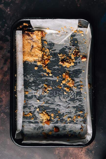 Темний шоколад, апельсин, хліб з мигдалю. — стокове фото