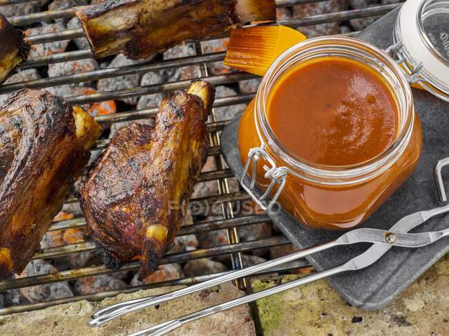 Chipotle BBQ sauce close-up view — Stock Photo