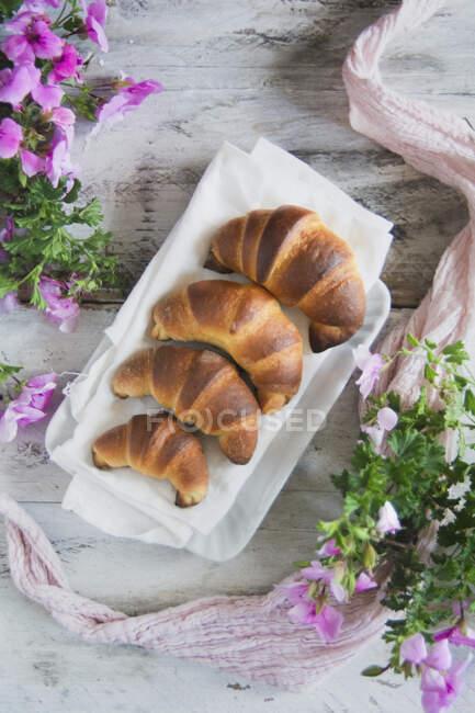 Escalera Croissant vista de cerca - foto de stock