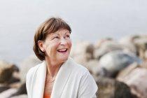 Mulher idosa feliz — Fotografia de Stock