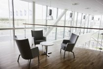 Empty chairs and table — Stock Photo