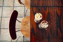 Direttamente sopra colpo di coppe di gelato — Foto stock