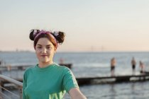 Mulher jovem feliz — Fotografia de Stock