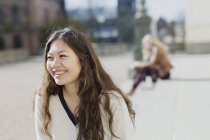 Smiling female college student — Stock Photo