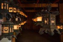 Lanterns at Kasuga-taisha shrine — Stock Photo