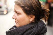 Pensive woman looking away — Stock Photo