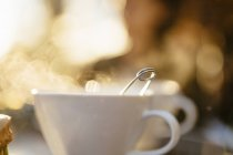 Coffee cup on sunny day — Stock Photo