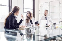 Business people planning at conference — Stock Photo