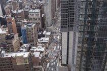 Vista del paisaje urbano de Manhattan - foto de stock