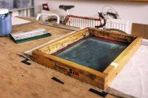 Quadro de impressão de tela — Fotografia de Stock