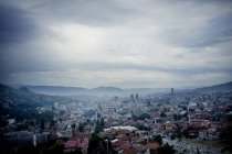View of Cityscape against cloudy sky — Stock Photo