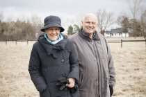 Усміхаючись старший пара — стокове фото