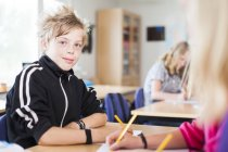 Ritratto di scolaro sorridente — Foto stock