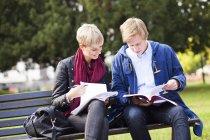 Giovani amici Studiare — Foto stock