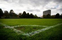 На футбольному полі. — стокове фото