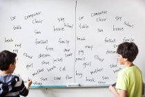 Scolari grafie di apprendimento — Foto stock