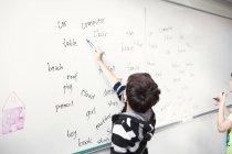 Grafie di scrittura dello scolaro — Foto stock