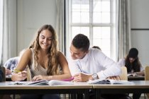 Young Students in classroom — Stock Photo