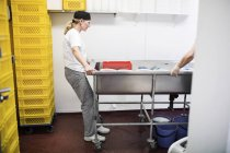 People working in commercial kitchen — Stock Photo