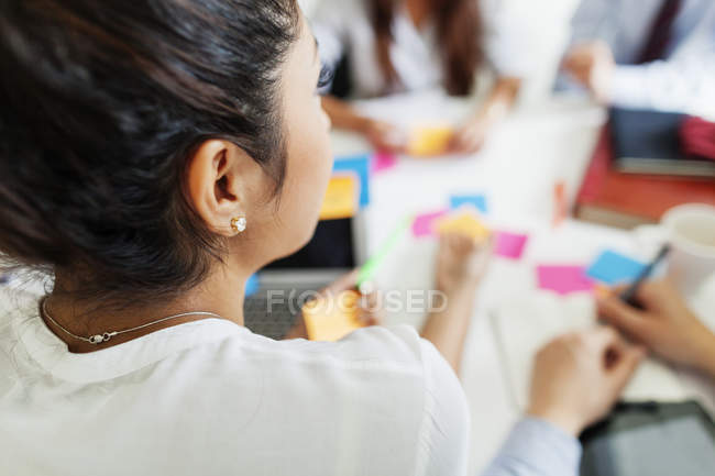 Businesspeople at meeting in office — Stock Photo