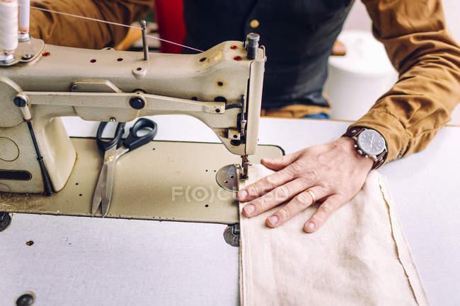 Poche sac à coudre ouvrier — Photo de stock