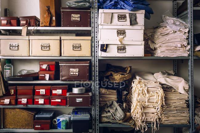 Intérieur de la fabrication des sacs — Photo de stock
