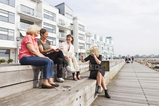 Amici felici femminili — Foto stock