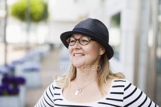 Heureux mature femme — Photo de stock