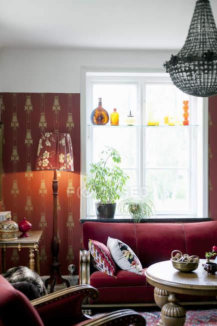 Sala da casa simples — Fotografia de Stock