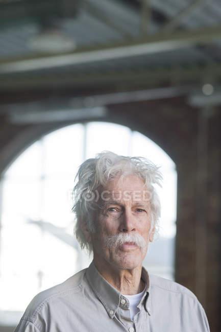 Confident senior man at gym — Stock Photo