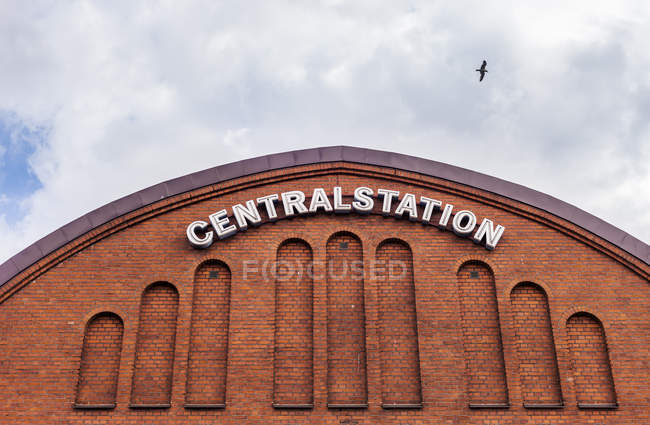 Sinal de estação central — Fotografia de Stock