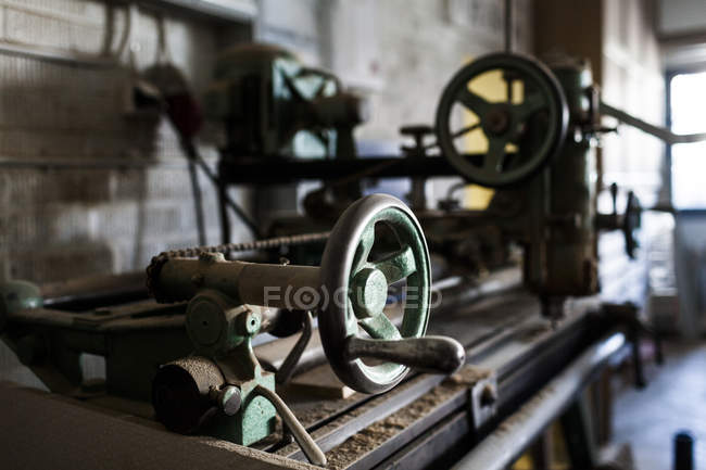 Machine inside in workshop — Stock Photo