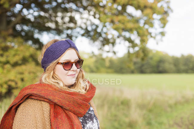 Young woman in warm clothing — Stock Photo