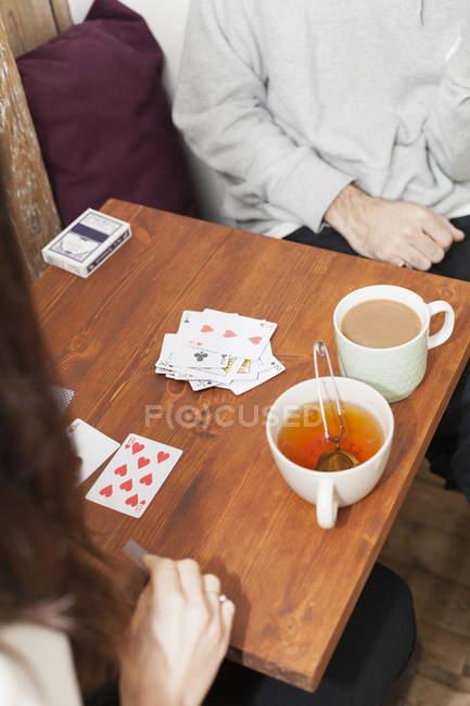 Пара игральных карт — стоковое фото