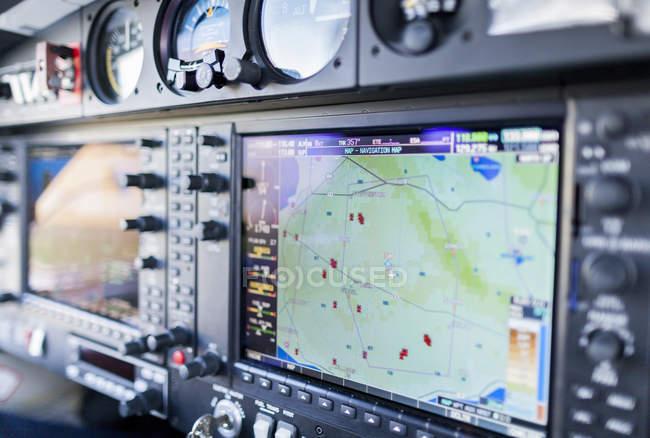 Système de navigation dans le cockpit — Photo de stock