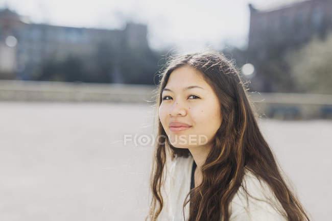 Confident female college student — Stock Photo