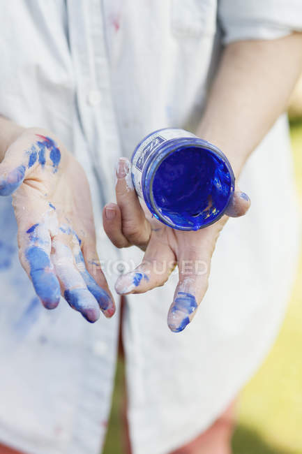 Senior female painter — Stock Photo