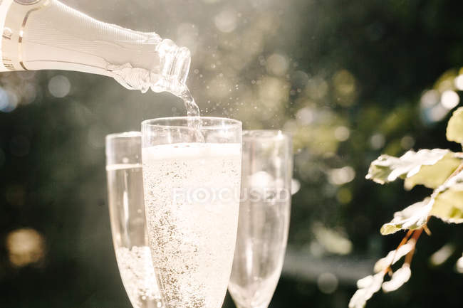 Champagne being poured — Stock Photo